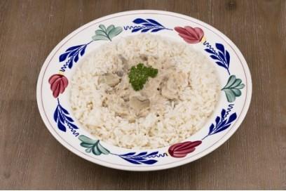 Kippenragout met rijst
